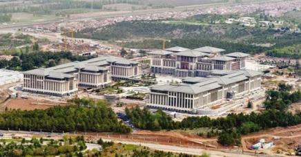 The environmental consequences of Turkey's new Presidential Palace, built in the middle of Atatürk Forest Farm, has been much debated. (Photo credit: Hürriyet Daily News)