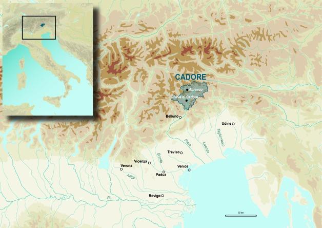 map 1 mappa cadore